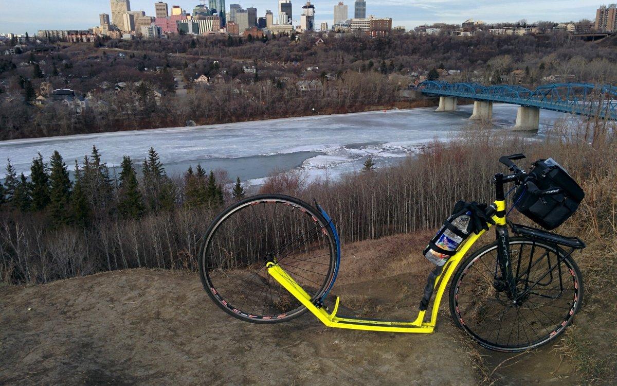 Edmonton na koloběžce