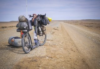 Na koloběžce kolem světa vol III - stepi Kazachstánu