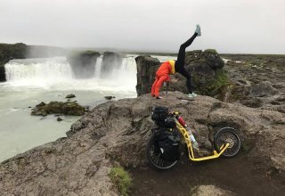 Na koloběžce po Islandu