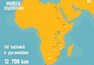 Film o cestě koloběžkového cestovatele Marka Jelínka Afrikou...