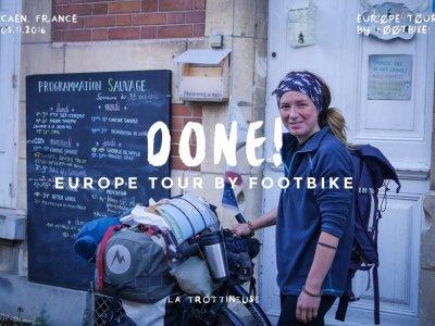 Cafe Sauvage, Caen - tady vše začalo i skončilo, rok putování po Evropě skončil... / foto: La Trottineuse