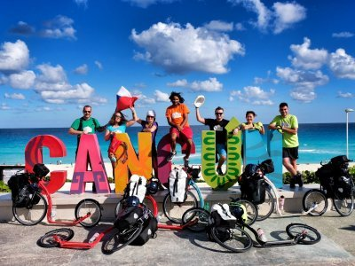 Cancůn - start cesty napříč Střední a Jižní Amrikou / zdroj: Kam až dojedeme?