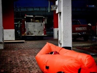Jedna z prvních nocí proběhla v hasičské zbrojnici / zdroj: Kam až dojedeme?