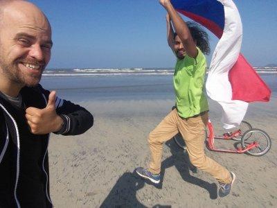 Marek a Michal a cíl u Atlantiku