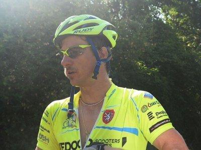 Pan Liška s nezaplou helmou. Helmu RUDY vozí i cyklistický fenomén a mistr světa Peter Sagan