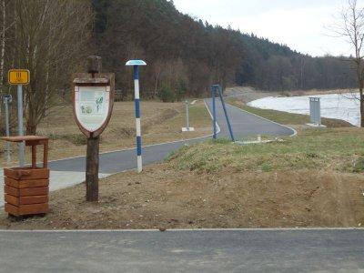 Cyklostezka z Týnu na Hněvkovickou hráz