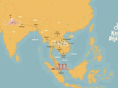 Mapa letošní Markovy cesty