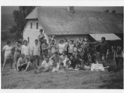 Šindlov, legendární místo koloběžkové historie a zcela vpravo Jirka Dupal, se kterým se zde slavnostně rozloučíme