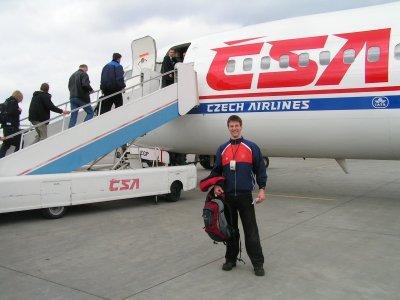 Pan Liška při startu na MS 2005