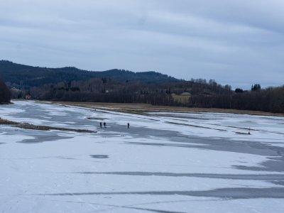 Směrem na Novou Pec, parádní led