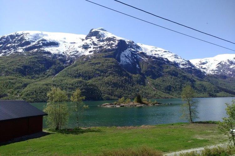 Koloběžkový lehký výlet Norskem