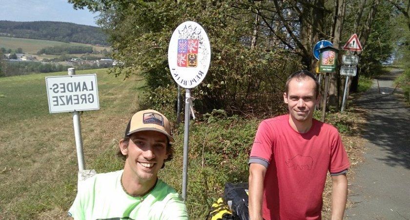 Německé hranice a cyklista Michal