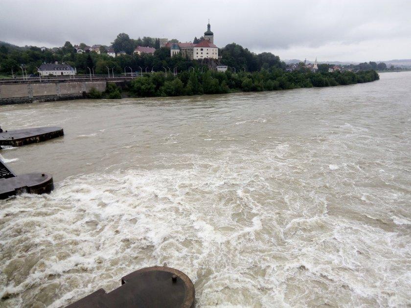 Toho rána byl Dunaj poněkud neklidný