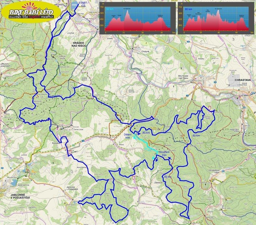 Mapa závodu