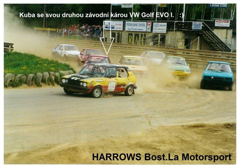 Kuba se svojí druhou závodní Károu VW Golf EVO I. pod hlavičkou HARROWS Bost.La Motorsport