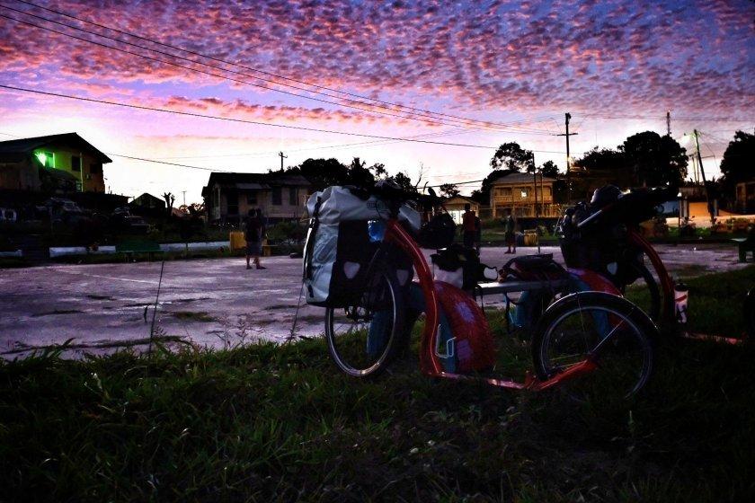 Západy slunce nad Belize