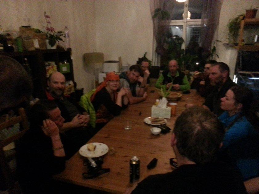 Květáková večeře na setkání s fanoušky