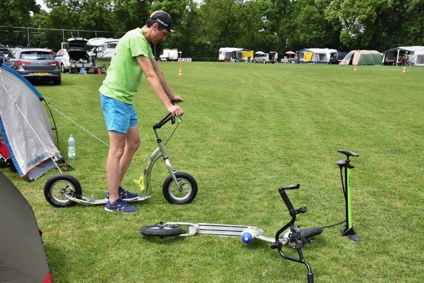Guido testuje nový stroj