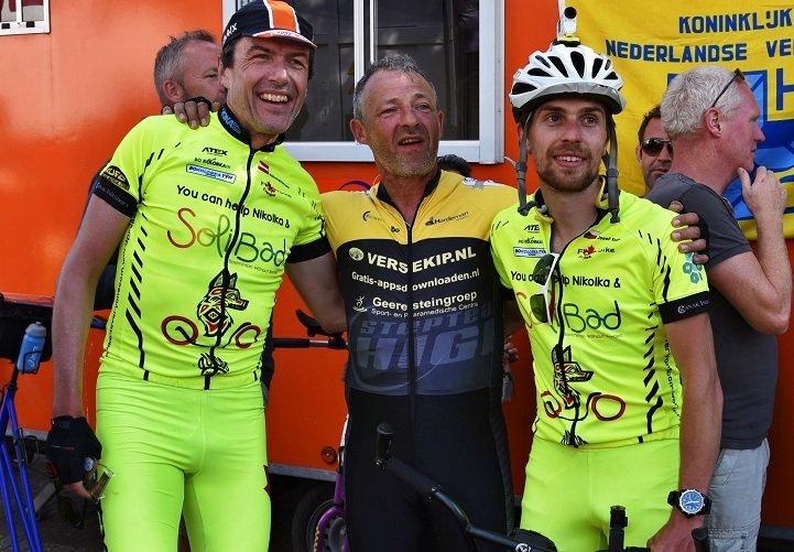 Guido, Mario Reijne a Pepa Kvita v cíli