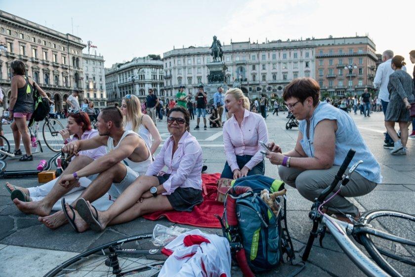 Osud Auroru zavála až na sté Giro na koloběžce, kde s námi strávila měsíc života. Zde v cíli v Miláně...