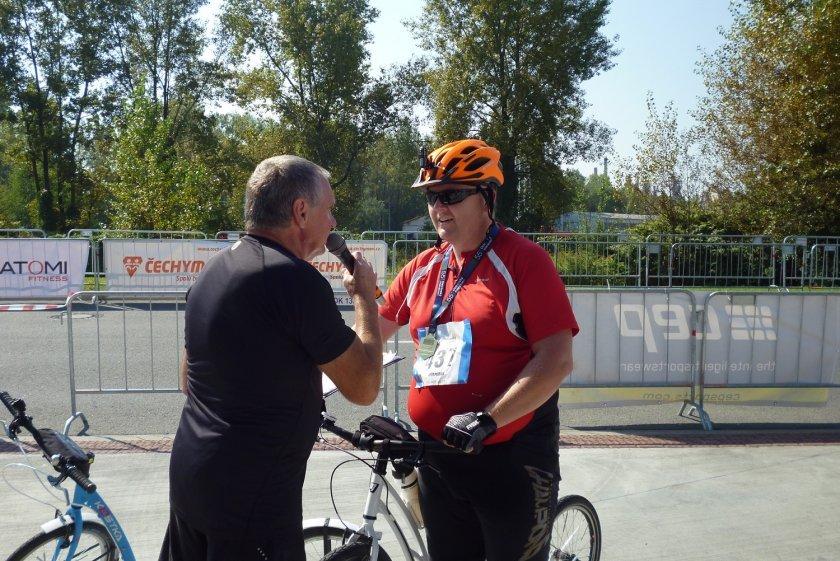 Rozhovor po závodě