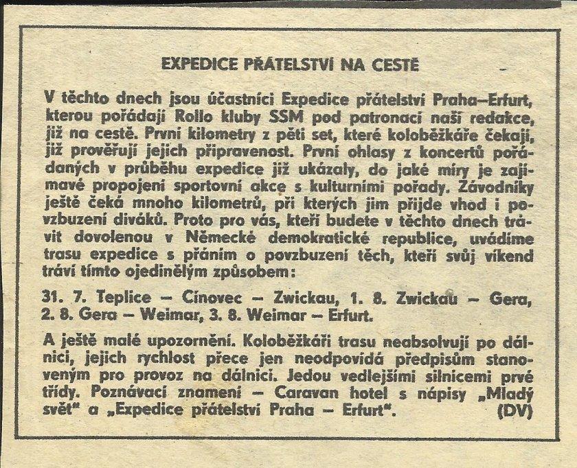Článek o expedici do Erfurtu