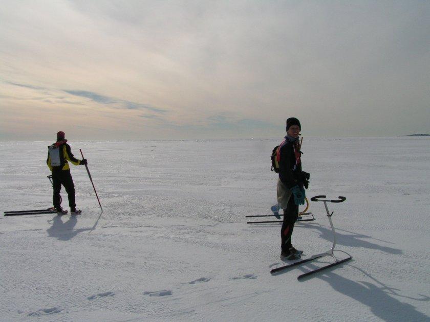 Ledoběžkování na širém moři - nádhera