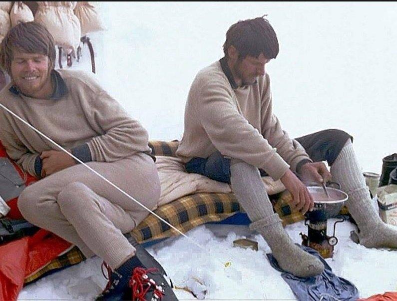 Reinhold a Günther Messner na Nanga Parbat 1970