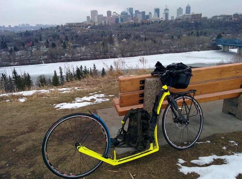 Na tréninku v okolí Edmontonu